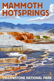 Yellowstone National Park - Mammoth Hotsprings Posters by  Lantern Press