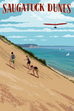 Michigan - Saugatuck Dunes Poster by  Lantern Press