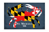 Maryland Flag Crab - St. Michaels, Maryland Posters by  Lantern Press