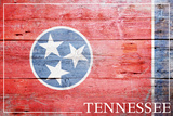 Tennessee - State Flag Art by  Lantern Press