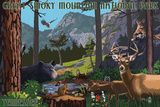 Great Smoky Mountain National Park - Wildlife Utopia Posters by  Lantern Press