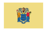 New Jersey State Flag Prints by  Lantern Press