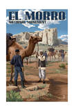 El Morro National Monument, New Mexico - U.S. Army Camel Corps Prints by  Lantern Press
