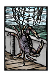 Dungeness Crab - Scratchboard Posters by  Lantern Press