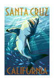 Santa Cruz, California - Great White Shark Posters by  Lantern Press