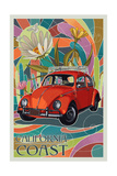 California Coast - VW Bug Prints by  Lantern Press
