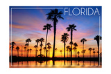 Florida - Lagoon and Sunset Posters by  Lantern Press