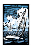 Sailboat - Scratchboard Prints by  Lantern Press