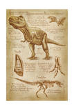 Tyrannosaurus Rex Dinosaur - DiVinci Style Prints by  Lantern Press