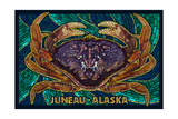 Juneau, Alaska - Dungeness Crab Mosaic Posters by  Lantern Press