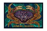 Juneau, Alaska - Dungeness Crab Mosaic Posters by  Lantern Press