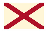 Alabama State Flag Posters