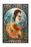 Cape Charles, Virginia - Mermaid Print by  Lantern Press