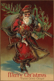 Merry Christmas from Forest Grove, Oregon - Santa with Gifts Posters by  Lantern Press