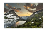 Glacier National Park, Montana - Hidden Lake and Bearhat Mountain Prints by  Lantern Press
