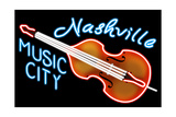 Nashville, Tennesse - Neon Cello Sign Prints by  Lantern Press