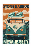 Stone Harbor, New Jersey - VW Van Posters by  Lantern Press