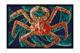 King Crab - Mosaic Posters by  Lantern Press