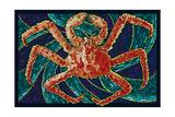 King Crab - Mosaic Posters by  Lantern Press