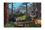 Tennessee - Wildlife Utopia Prints by  Lantern Press