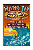 Surf Shop - Vintage Sign Posters by  Lantern Press