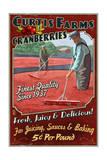 Cranberry Farm - Vintage Sign Prints by  Lantern Press