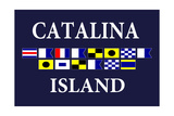 Catalina Island, California - Nautical Flags 2 Print by  Lantern Press