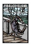 Fidalgo Island, Washington - Dungeness Crab - Scratchboard Posters by  Lantern Press