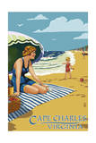Cape Charles, Virginia - Woman on Beach Posters by  Lantern Press