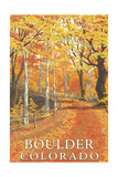 Boulder, Colorado - Fall Colors Scene Prints by  Lantern Press