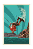 Wakeboarder Prints by  Lantern Press
