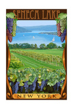 Seneca Lake, New York - Vineyard Scene Posters by  Lantern Press