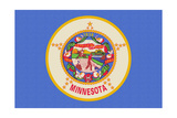 Minnesota State Flag Prints by  Lantern Press