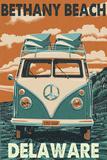 Bethany Beach, Delaware - VW Van Poster