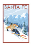 Santa Fe, New Mexico - Downhill Skier Prints by  Lantern Press