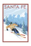 Santa Fe, New Mexico - Downhill Skier Prints
