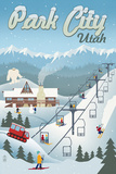Park City, Utah - Retro Ski Resort Poster by  Lantern Press