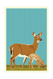 Deer and Fawn - Version 2 Prints