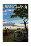 Pennsylvania - Military Park Prints by  Lantern Press