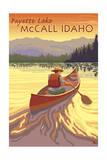 Payette Lake - McCall, Idaho - Canoe Scene Prints by  Lantern Press