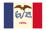 Iowa State Flag Poster by  Lantern Press