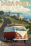 Dana Point, California - VW Coastal Posters by  Lantern Press