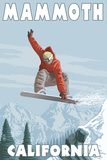 Mammoth, California - Snowboarder Jumping Posters por  Lantern Press