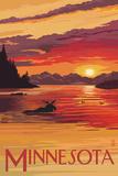 Minnesota - Moose Swimming Affiches par  Lantern Press