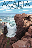 Acadia National Park, Maine - Thunder Hole Day Giclée-Premiumdruck von  Lantern Press
