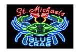 Neon Blue Crab - St. Michaels, Maryland Prints