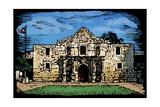 Alamo - Scratchboard Posters