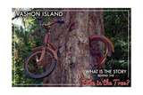 Vashon Island, WA - Bike in the Tree Posters by  Lantern Press