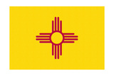 New Mexico State Flag Posters by  Lantern Press