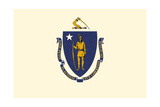 Massachusetts State Flag Posters by  Lantern Press